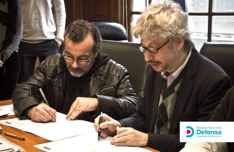 Horacio firma convenio con MPD